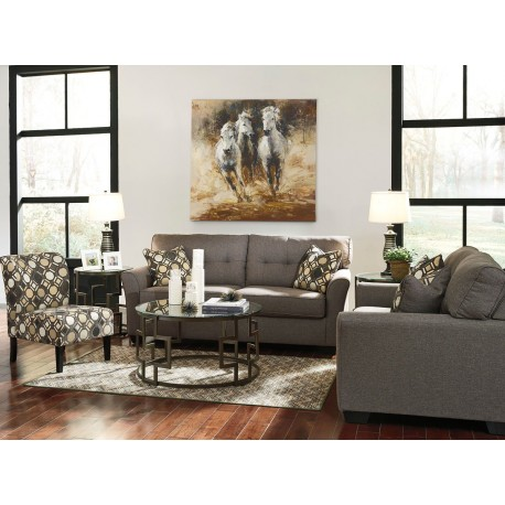 Fantastic Tibbee Slate Sofa Loveseat Accent Chair Frostine Table Set Gmtry Best Dining Table And Chair Ideas Images Gmtryco