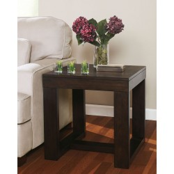 Watson - Dark Brown - Square End Table