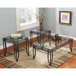 Exeter - Black/Brown - Occasional Table Set (3/CN)