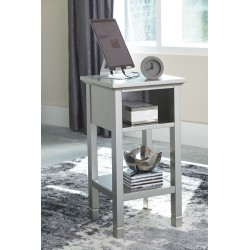 Marnville - Silver Finish - Accent Table
