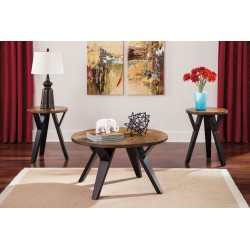 Ingel - Two-tone Brown - Occasional Table Set (3/CN)