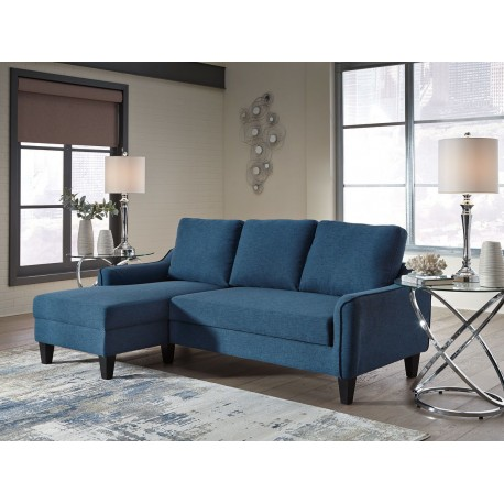 Swell Jarreau Blue Sofa Chaise Sleeper Andrewgaddart Wooden Chair Designs For Living Room Andrewgaddartcom