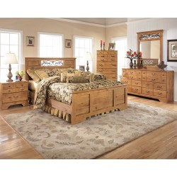 Bittersweet - Light Brown - 5 Pc. - Dresser, Mirror & Queen Panel Bed