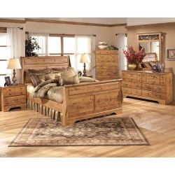 Bittersweet - Light Brown - 5 Pc. - Dresser, Mirror & Queen Sleigh Bed
