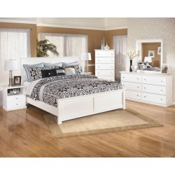 Bostwick Shoals - White - 8 Pc. - Dresser, Mirror, Chest, Queen Panel Bed & 2 Nightstands