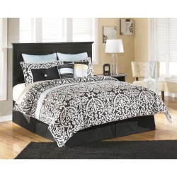 Maribel - Black - Queen/Full Panel Headboard