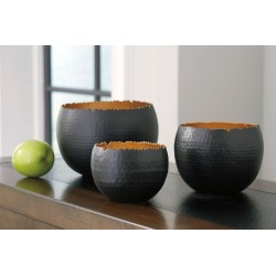 Claudine - Black/Gold Finish - Bowl Set (3/CN)