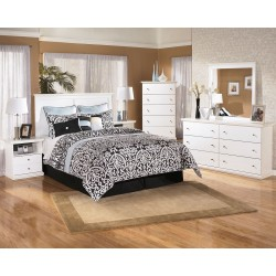 Bostwick Shoals - White - One Drawer Night Stand