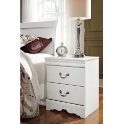 Anarasia - White - Two Drawer Night Stand