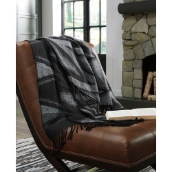Cecile - Black/Gray - Throw (3/CS)